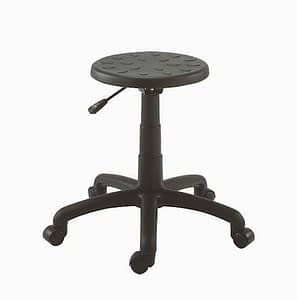 Black workers seat with gas height adjustment