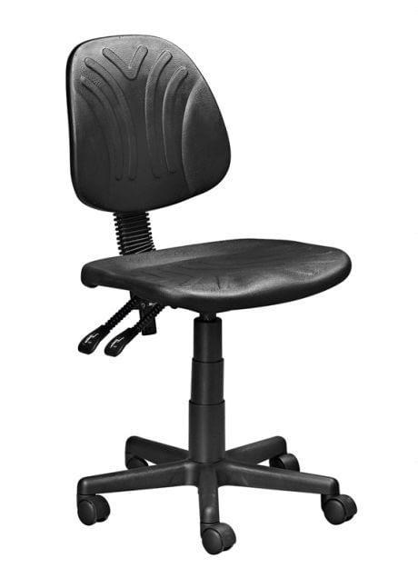black polyurethane office chair
