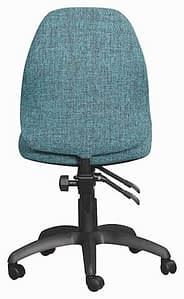 Rear view teal office chair