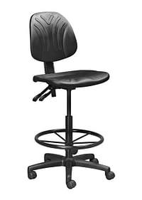 Black single ring industrial draughtsman chair