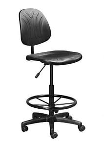 dark draughtsman office chair industrial