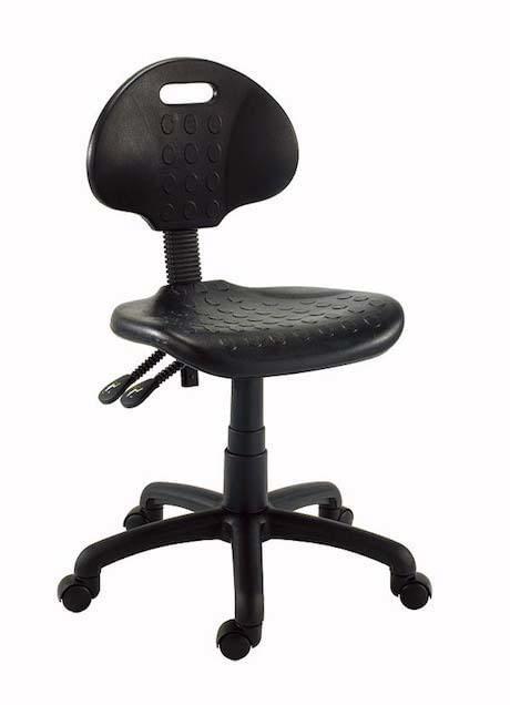 Black hospital chair