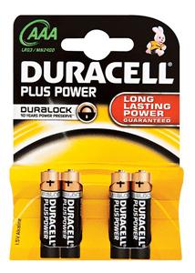 DURACELL - PLUS POWER ALKALINE BATTERIES AAA