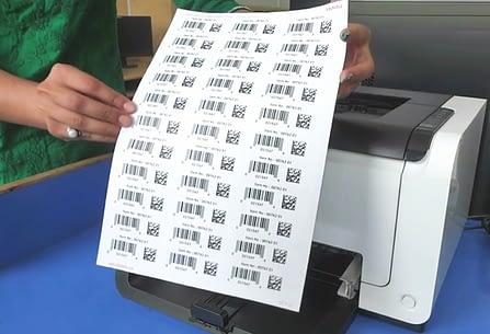 Barcode Sticker Labels