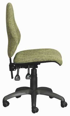 Lime green profile Ergonomic chair