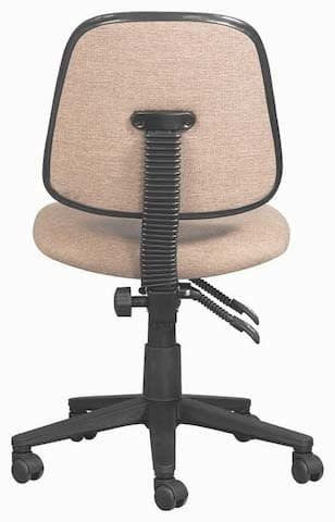 Back rake system on operators office chair