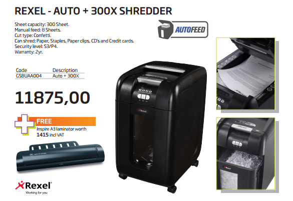 rexel-shredder-R11875-free-laminator